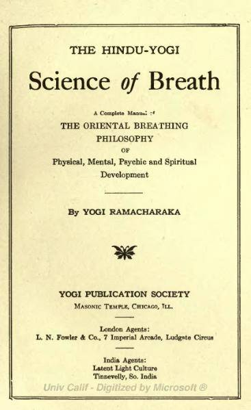 обложка книги The Hindu-Yogi Science of Breath