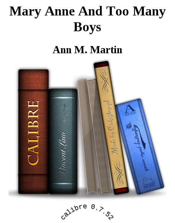 обложка книги Mary Anne And Too Many Boys