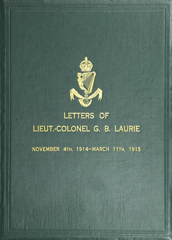 обложка книги Letters of Lt.-Col. George Brenton Laurie