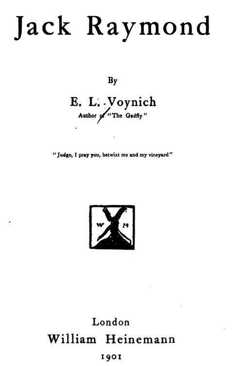 Изображение к книге Jack Raymond