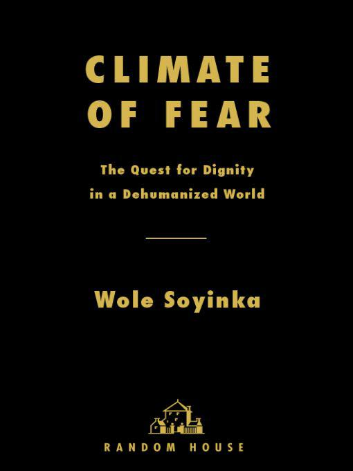 обложка книги Climate of Fear : The Quest for Dignity in a Dehumanized World
