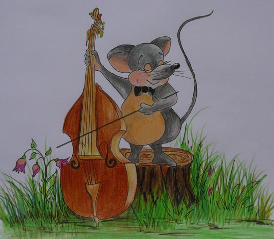 Прикольные картинки с виолончелью, открытки жене картинка