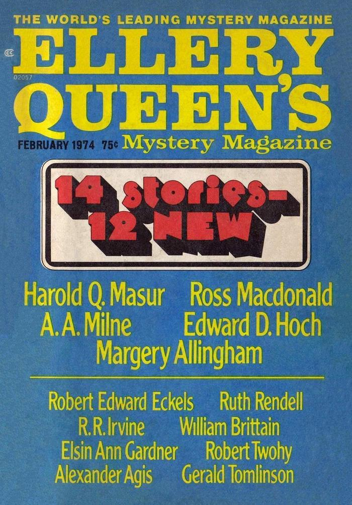 обложка книги Ellery Queen's Mystery Magazine, Vol. 63, No. 2. Whole No. 363, February 1974