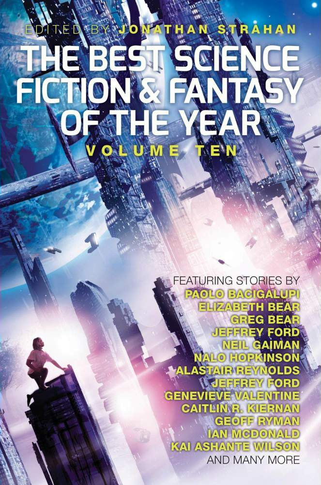 обложка книги The Best Science Fiction and Fantasy of the Year. Volume 10