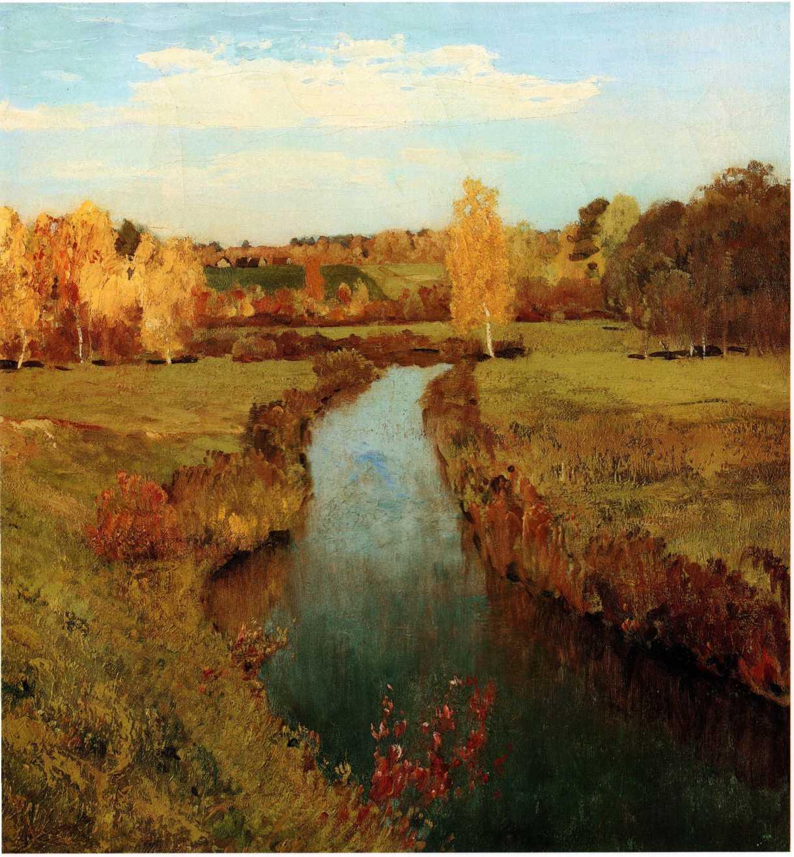 Открытки английском, картинки левитана золотая осень