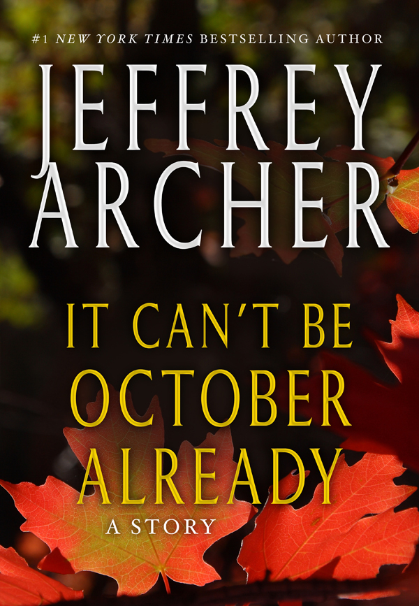 обложка книги It Can't be October Already
