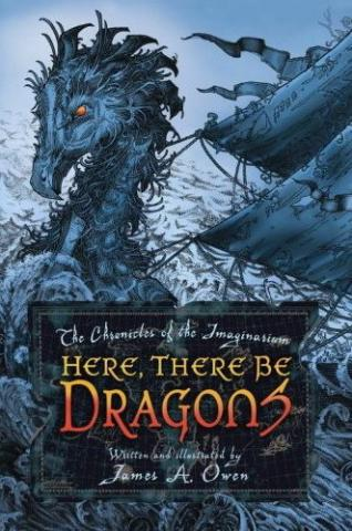 обложка книги Here, There Be Dragons
