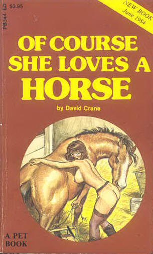 обложка книги Of course she loves a horse